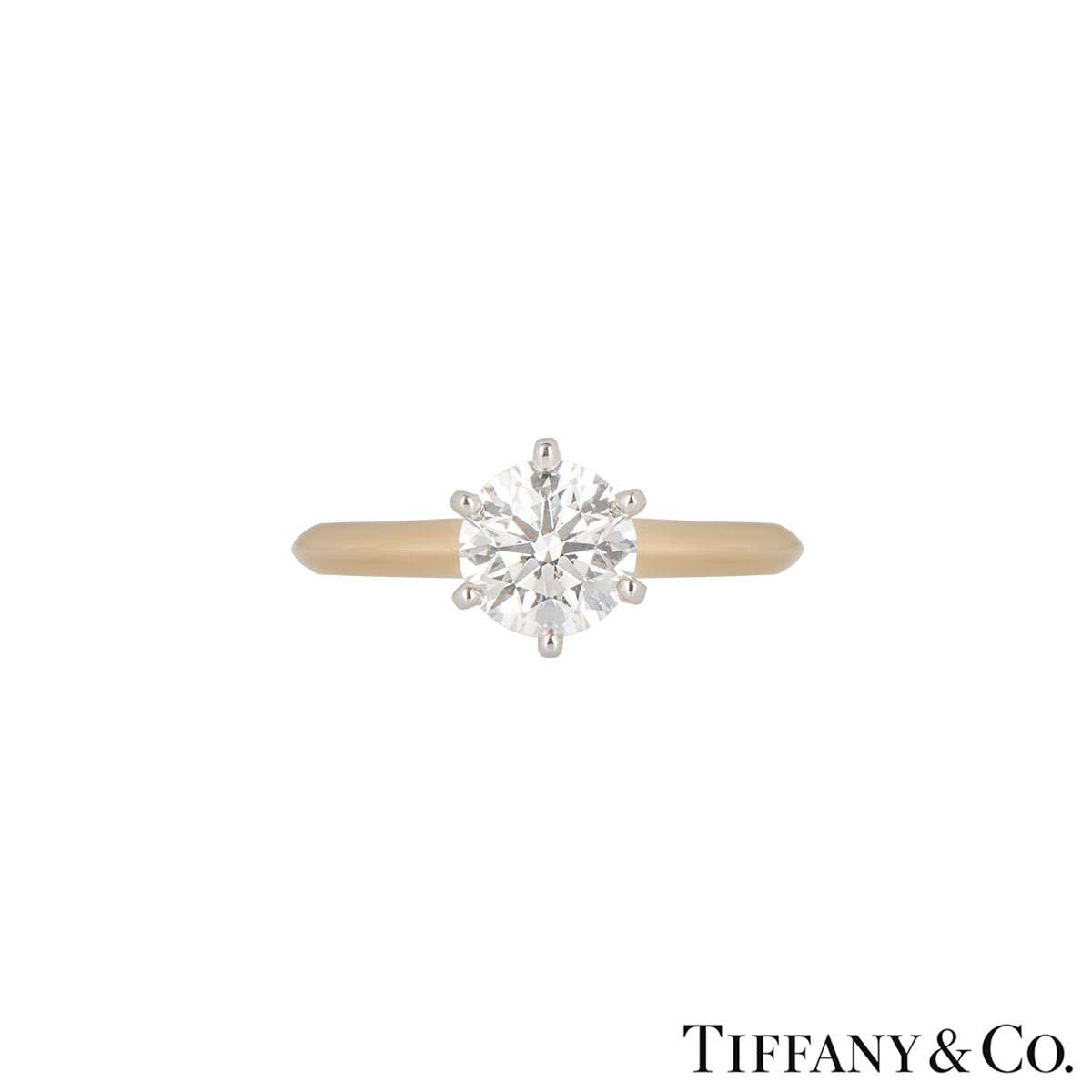 Tiffany & Co. Rose Gold Diamond Setting Ring 0.95ct H/VS1 XXX
